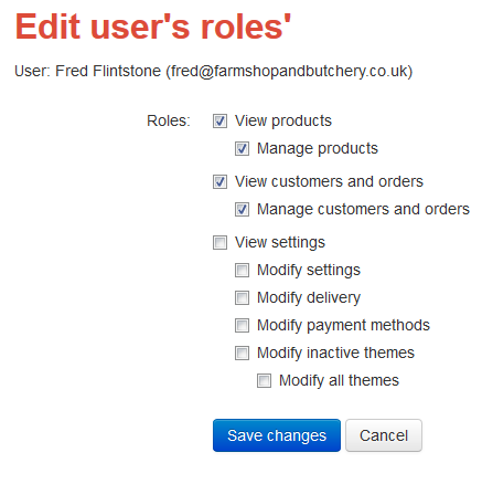 edit users roles